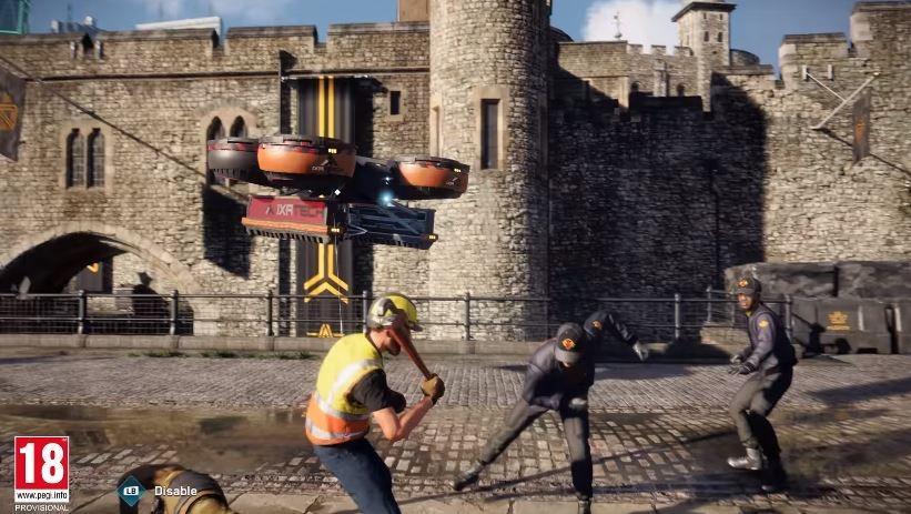 NPC berupa pekerja konstruksi ini memiliki skill khusus. (YouTube/ Ubisoft)