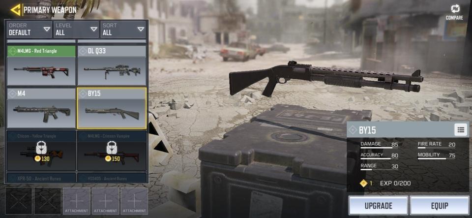 Senjata Call of Duty Mobile M16. (IGN)