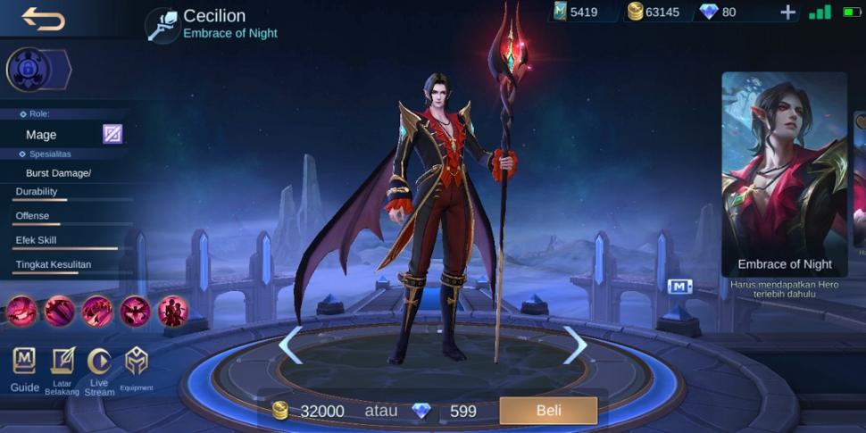 Hero Cecilion Mobile Legends. (HiTekno.com)