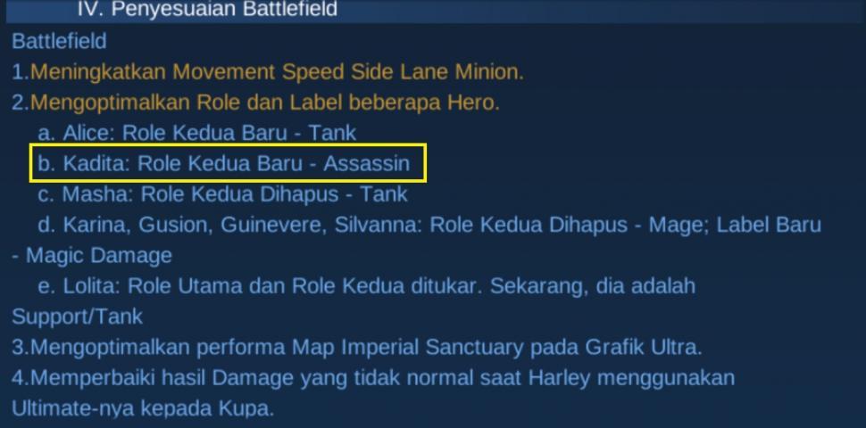 Update yang menambahkan Role dari Kadita. (HiTekno.com)