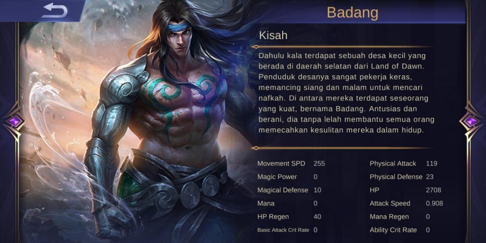 Background Badang Mobile Legends. (HiTekno_Rezza Rachmanta)