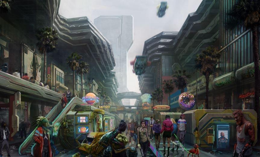 Gambar ketiga Distrik Heywood. (Twitter/ CyberpunkGame)