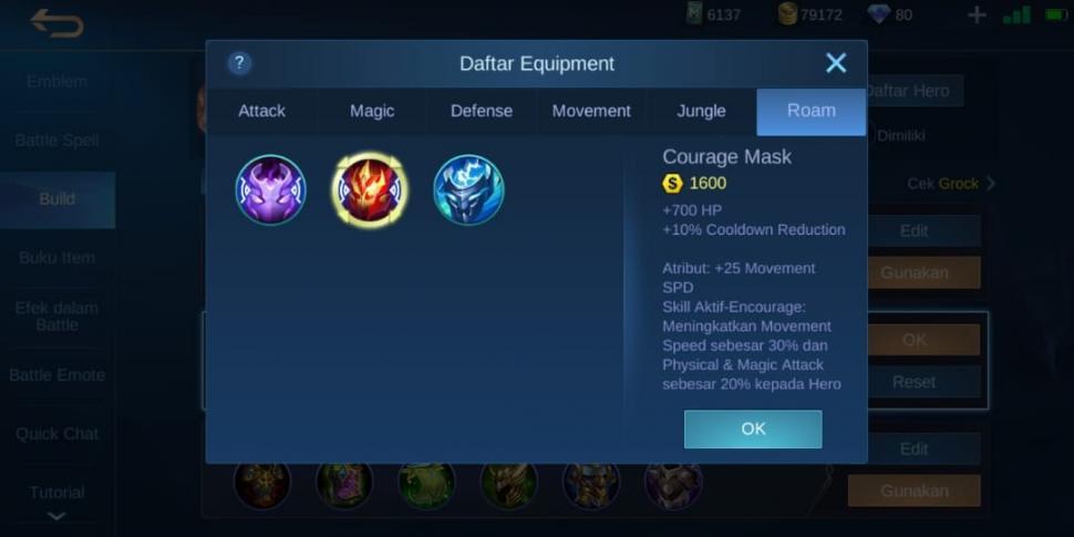 Courage Mask. (Mobile Legends)