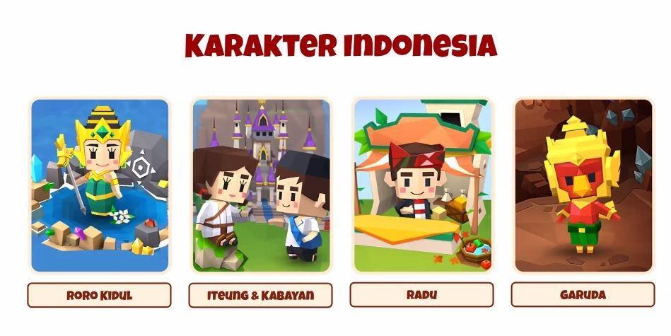 Karakter Fantasy Town dengan rasa Indonesia. (Zoom Conference Garena)