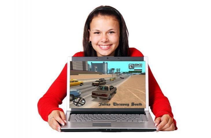 Ilustrasi main game di laptop. (HiTekno.com, Pixabay)