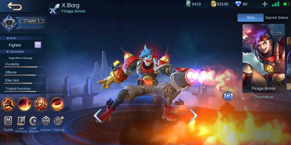Hero X.borg Mobile Legends. (HiTekno.com)