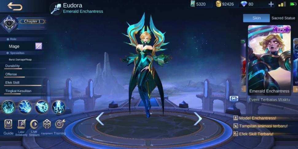 Eudora Mobile Legends. (HiTekno.com)