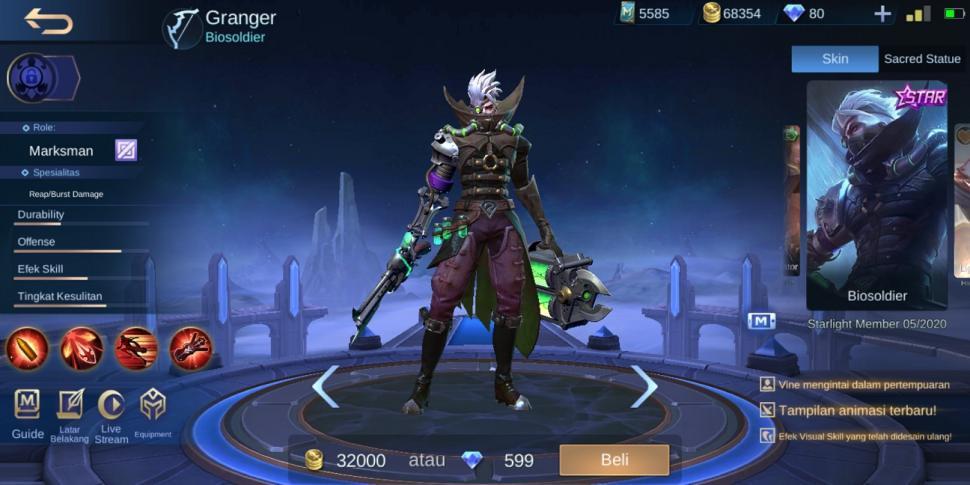 Granger Mobile Legends. (HiTekno.com)