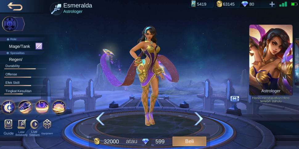 Hero Esmeralda Mobile Legends. (HiTekno.com)