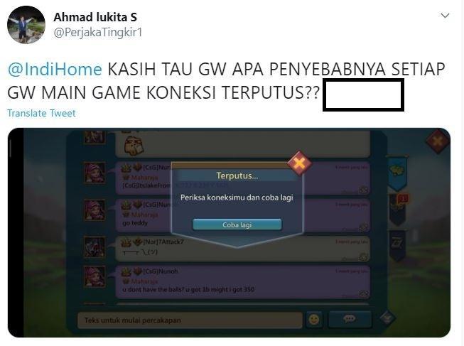 Meme Indihome dari netizen. (Twitter/ PerjakaTingkir1)