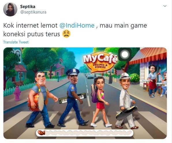 Meme Indihome dari netizen. (Twitter/ septikanura)