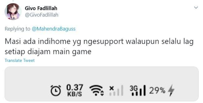 Meme Indihome dari netizen. (Twitter/ GivoFadlillah)
