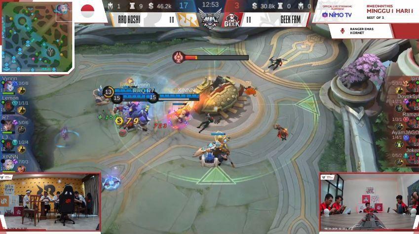 Game pertama RRQ vs Geek Fam. (YouTube_MPL Indonesia)