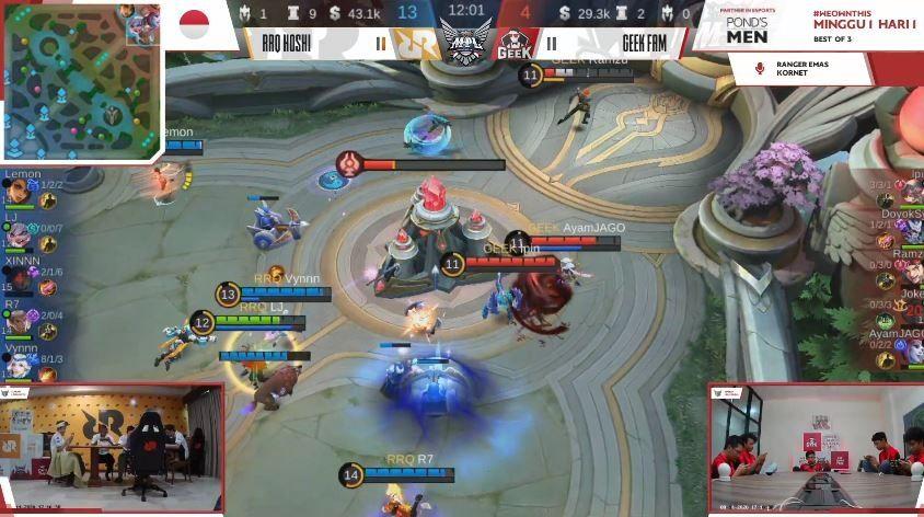 Game kedua RRQ vs Geek Fam. (YouTube/ MPL Indonesia)