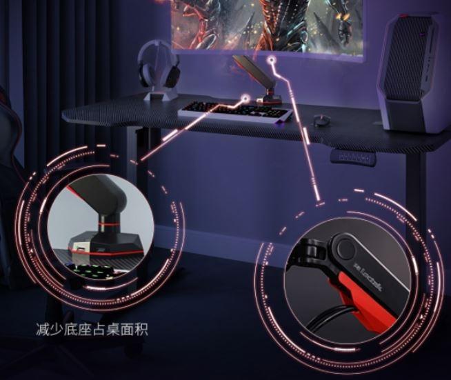 Dudukan monitor gaming dari Xiaomi bisa dijepit di atas meja. (Xiaomi Youpin)