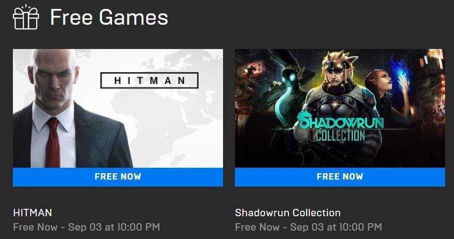 Hitman dan Shadowrun Collection Gratis di Epic Games Store. (Epic Games)