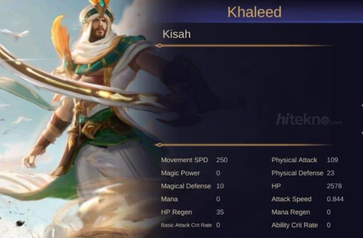 Khaleed, hero baru Mobile Legends. (HiTekno.com)