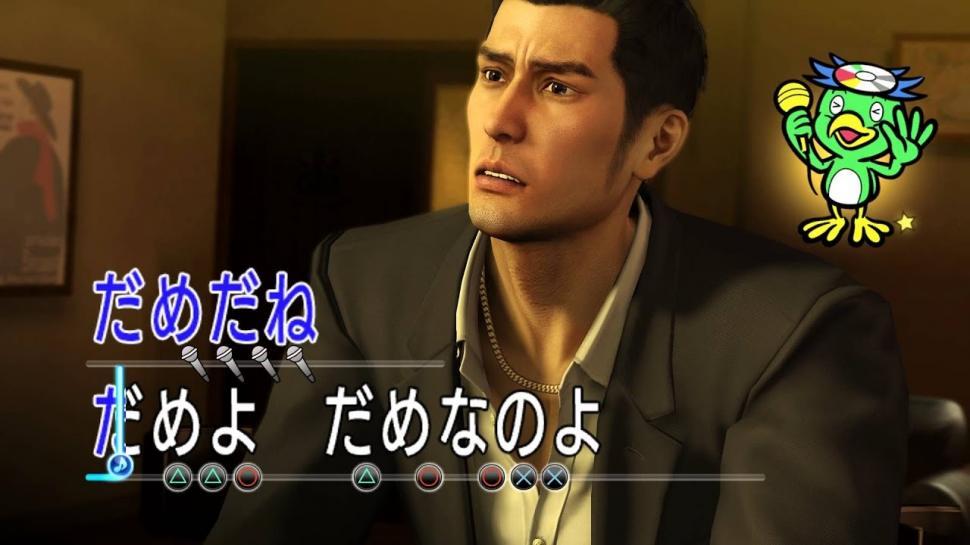 Kazuma Kiryu menyanyikan Bakai Mitai di Yakuza 0. (SEGA)