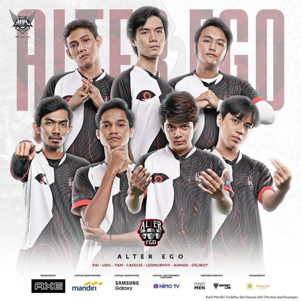 Squad Alter Ego di MPL Indonesia Season 6. (Instagram/ mpl.id.official)