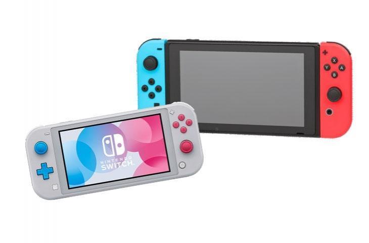 Nintendo Switch (kanan) dan Nintendo Switch Lite (kiri). [Nintendo]