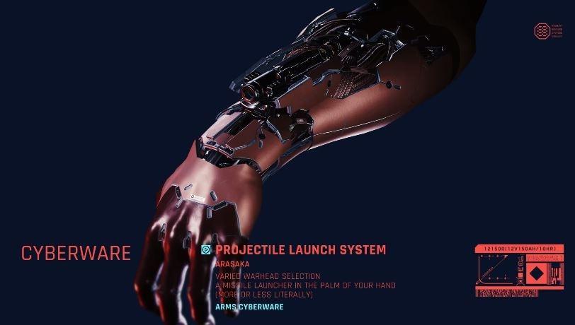 Senjata Cyberware di Cyberpunk 2077. (YouTube/ Cyberpunk 2077)