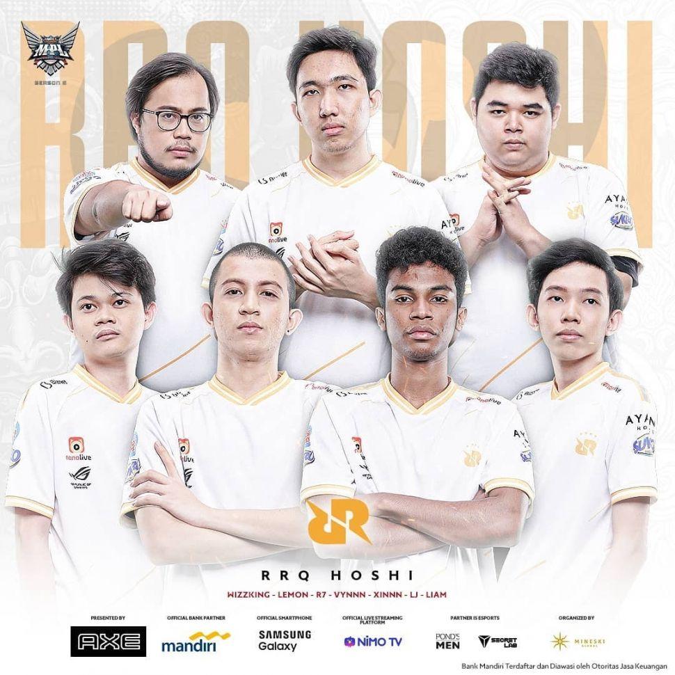 Squad RRQ Hoshi. (Instagram/ mpl.id.official)