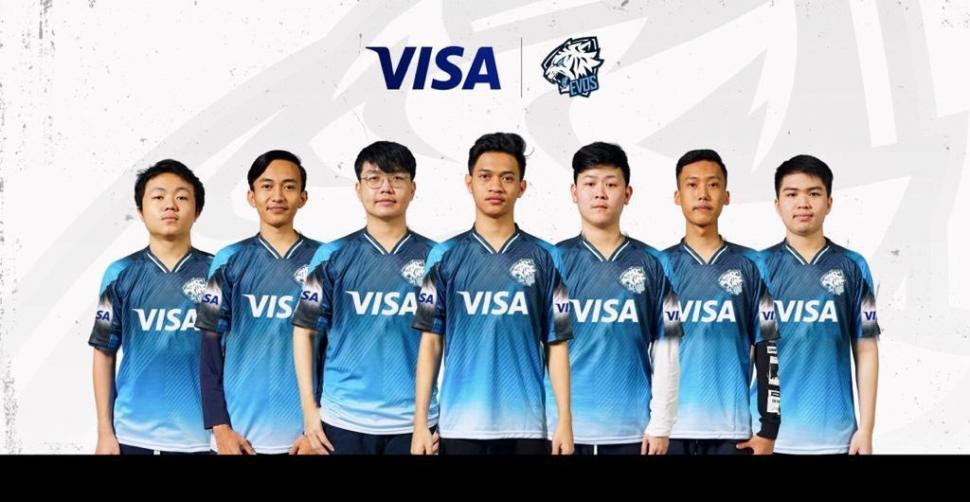 Kolaborasi EVOS Esports dan Visa. (dok. EVOS Esports)