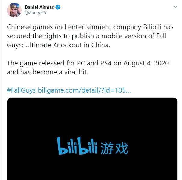 Fall Guys segera jadi game mobile. (twitter/ZhugeEX)