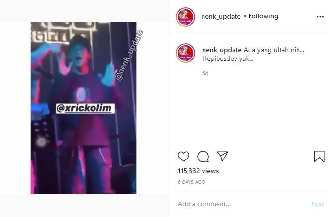 Ericko Lim peluk dan rangkul Listy Chan. (instagram/nenk_update)