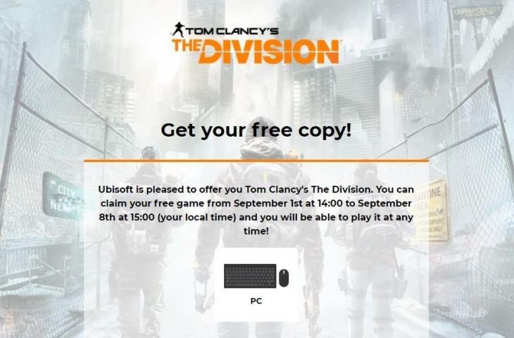 Ubisoft bagikan game PC The Division gratis. (Ubisoft)