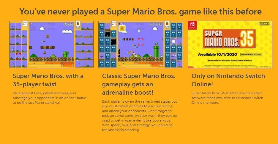 Fitur pada Super Mario Bros 35. (Nintendo)