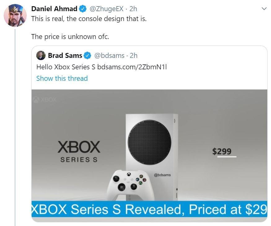 Bocoran Xbox Seris S. (Twitter/ @ZhugeEX)