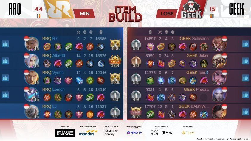 RRQ vs Geek Fam. (MPL Indonesia)