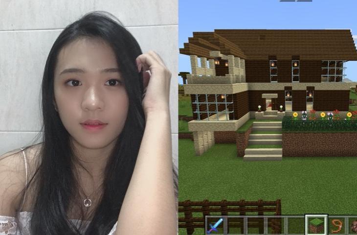 Celine JKT48 main Minecraft. (Twitter/ Celine_JKT48)