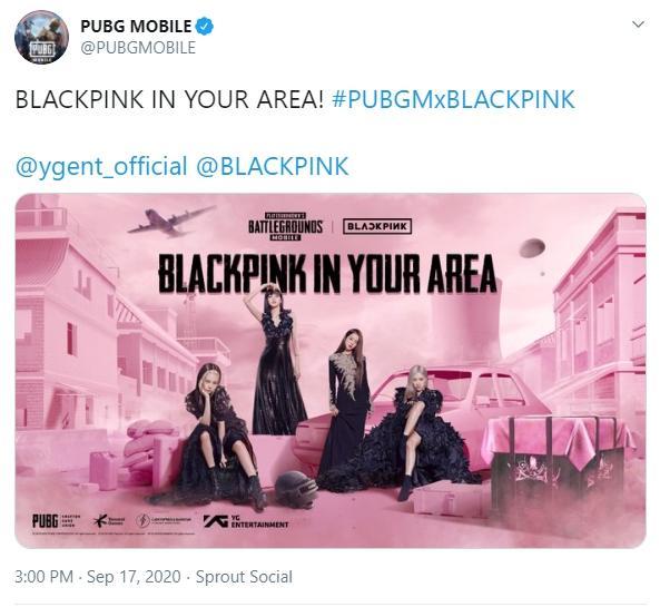 Kolaborasi PUBG Mobile dan BLACKPINK. (PUBGMOBILE)