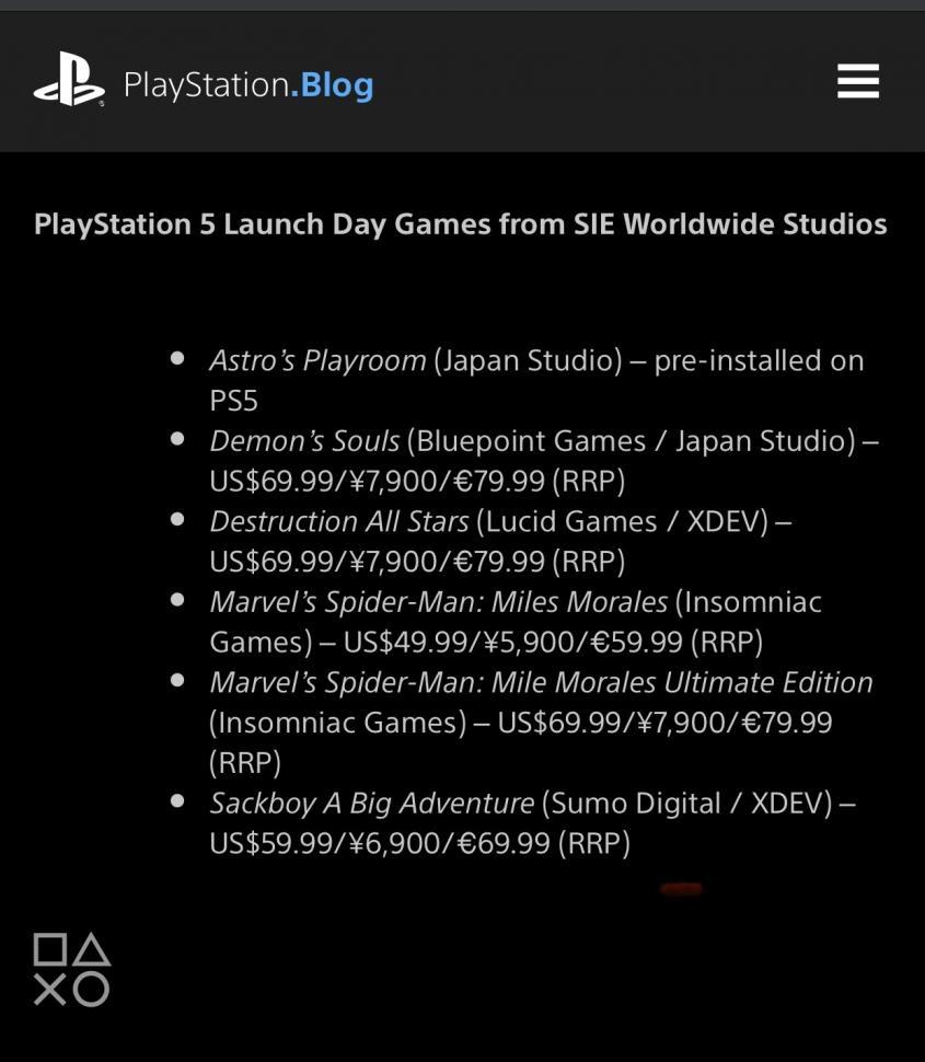 Harga game PS5. (Twitter/ yosp)