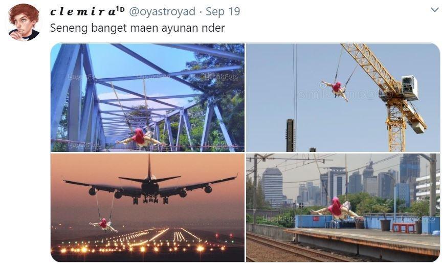 Minta Edit Foto, hasil yang diberikan Netizen Indonesia di luar dugaan. (Twiiter/ oyastroyad)