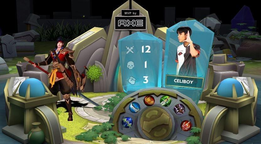 Celiboy jadi MVP di game kedua Alter Ego vs RRQ. (YouTube/ MPL Indonesia)