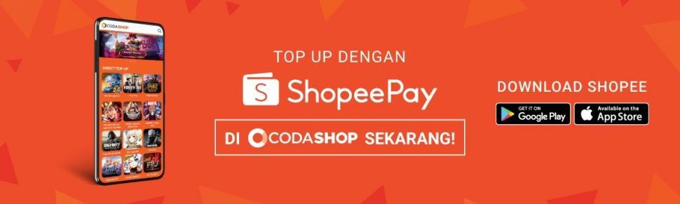 Codashop dan ShopeePay Jalin Kerjasama Pembelian Kredit Game. (Shopee)
