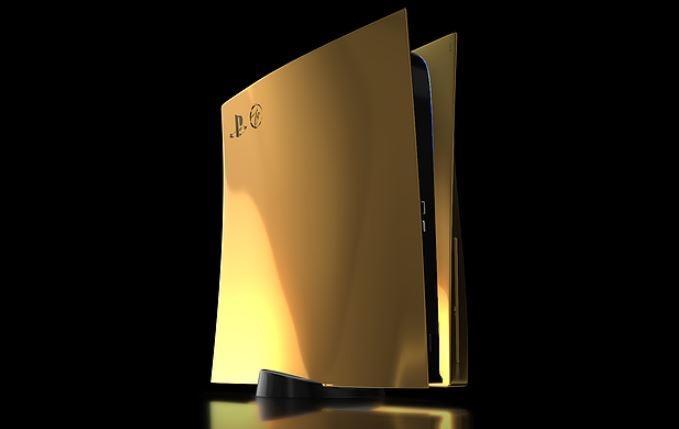 PS5 berlapis emas. (Truly Exquisite)