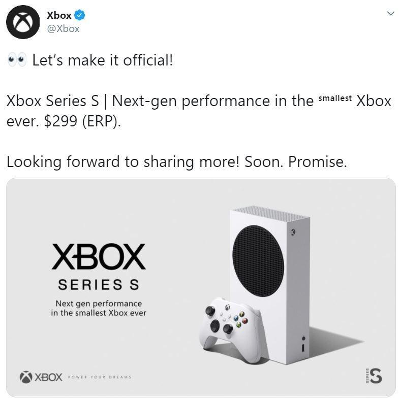 Wujud resmi Xbox Series S. (Xbox)