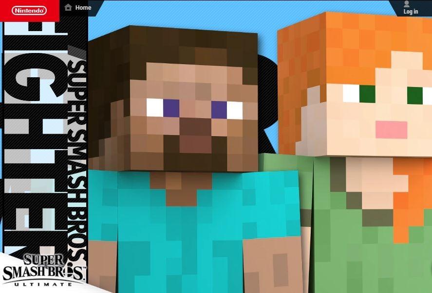 Karakter Minecraft akan datang ke Super Smash Bros Ultimate. (Smashbros.com)