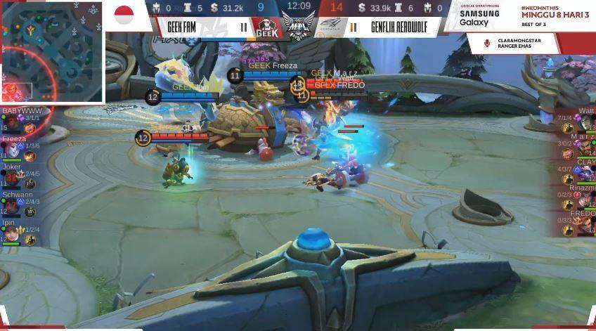 Game kedua Genflix Aerowolf vs Geek Fam dimenangkan Sang Serigala dengan skor Kill 14 vs 10. (YouTube/ MPL Indonesia)