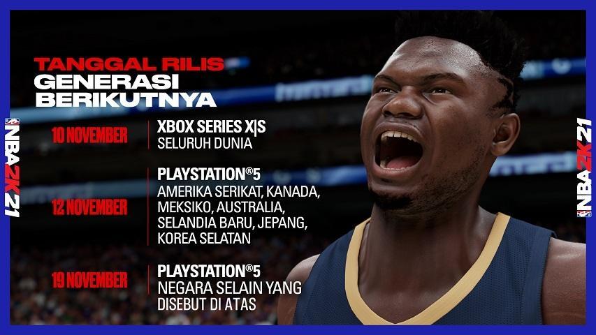 Tanggal rilis NBA 2K21 Konsol Game Next-gen. (2K)