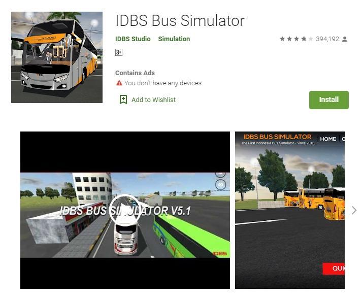 IDBS Bus Simulator. (Google Play Store)