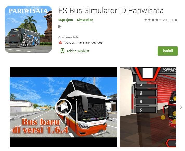 ES Bus Simulator ID. (Google Play Store)