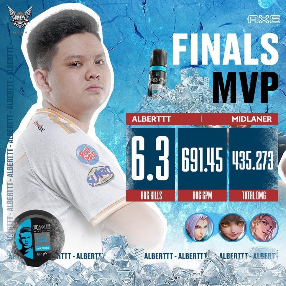 RRQ Albert jadi MVP di MPL Indonesia Season 6. (instagram/mpl.id.official)
