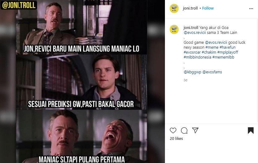 Meme RRQ. (Instagram/ joni.troll)