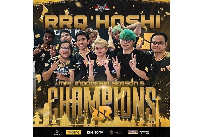 RRQ berhasil meraih juara MPL Season 5.(Instagram/ mpl.id.official)