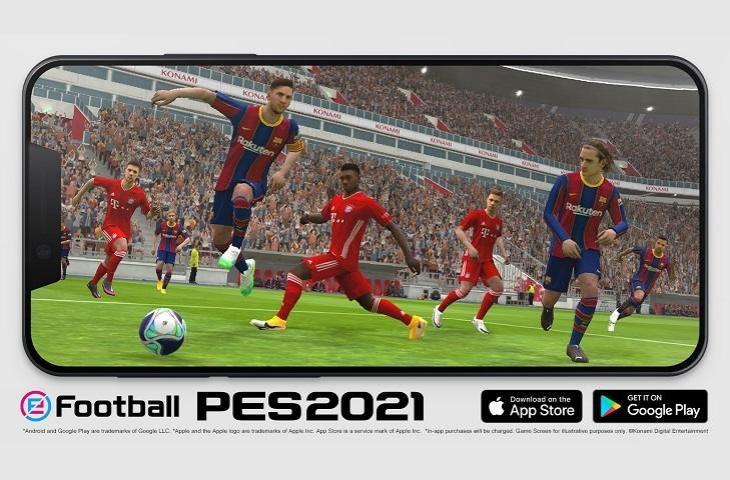 eFootball PES 2021 Mobile. (Konami)